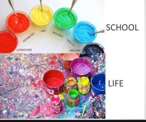 School versus life quote