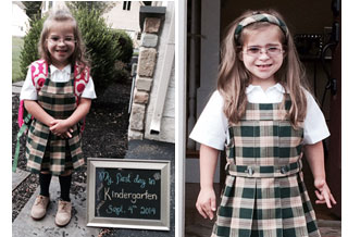 Mia, first day of kindergarten, image