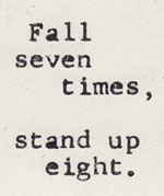 Fall seven times, quote image