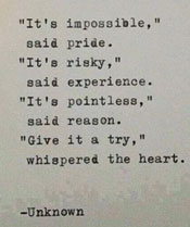 It's impossible...., quote
