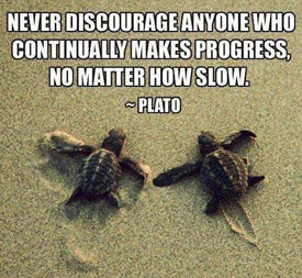 Don't discourage progress, graphic