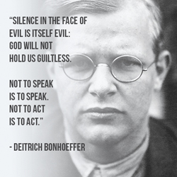 Silence in the face of evil, quote