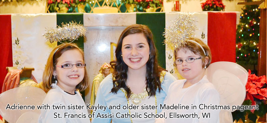 Adrienne and sisters, St. Francis of Assisi