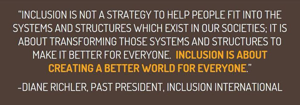 Inclusion is not a strategy...quote