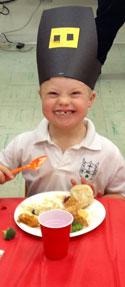 John Michael eating, image