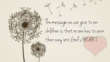 God's heart quote, dandelion image