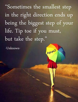 First step quote, image