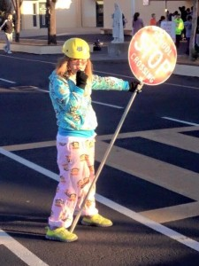 Pajama Day + Crossing Guard Duty = A Great Day