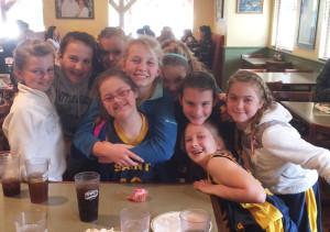 Gretchen and friends feelin' the love! St. Apollinaris Catholic School, Napa, CA