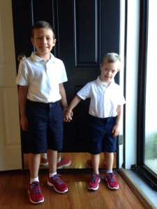 """Nicholas and Nathan's First Day of School"""