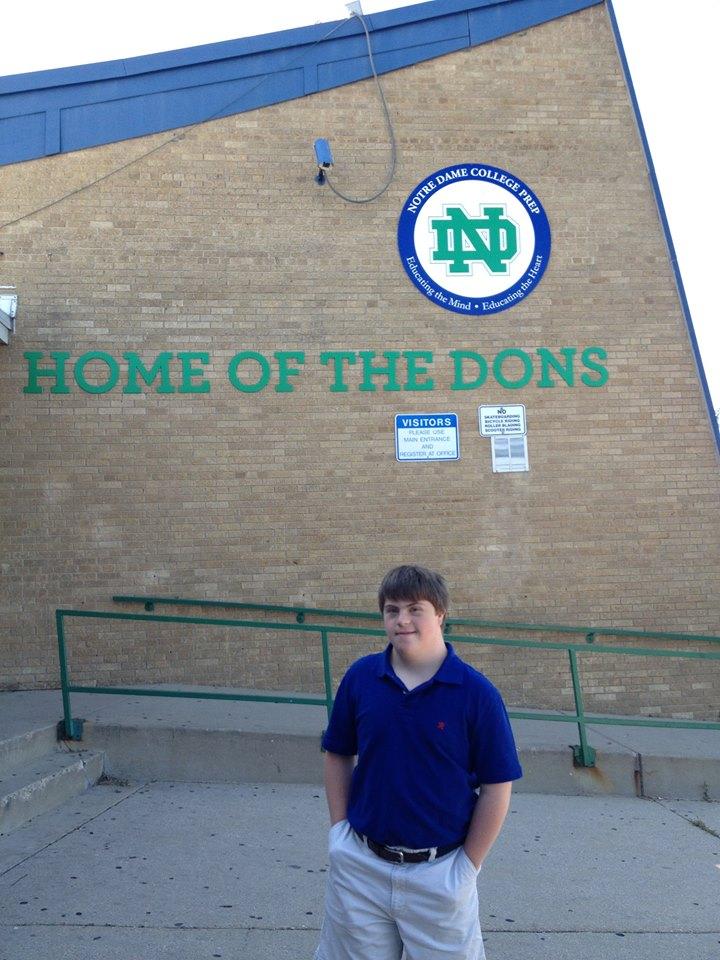 Aidan from Notre Dame College Prep, Niles, IL