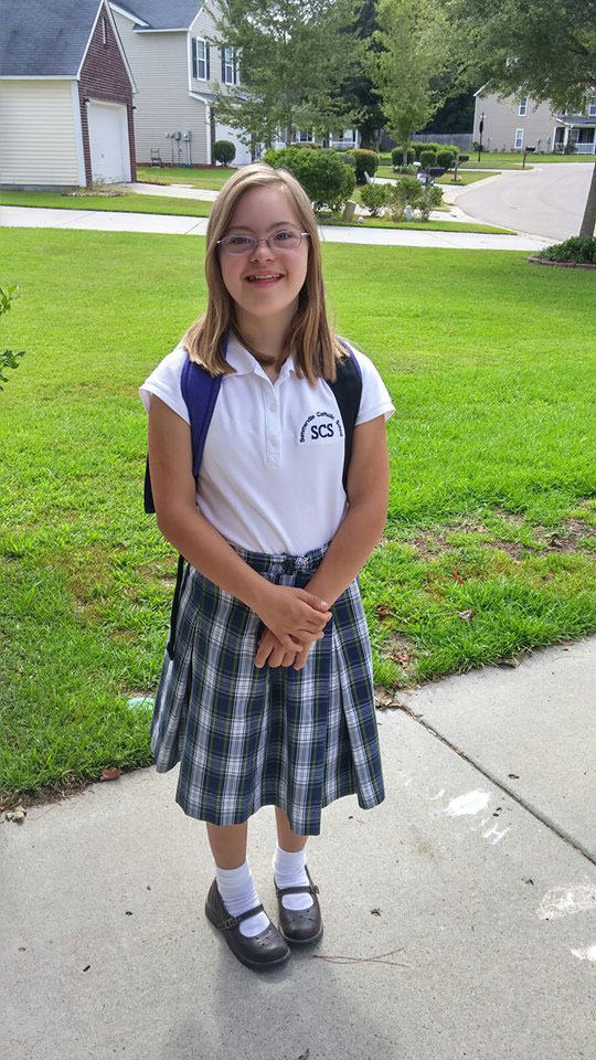Kayla at Summerville Catholic Elementary School, Summerville, SC