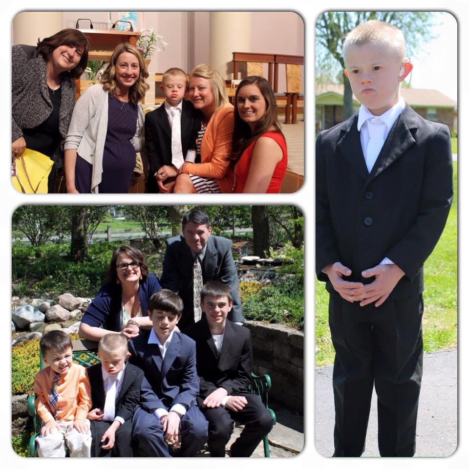 Will celebrating First Holy Communion with classmates and family