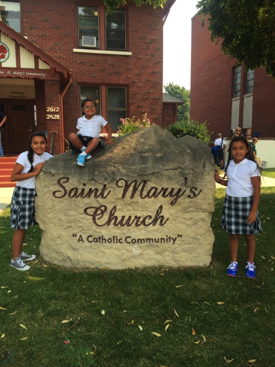 Mikaela just started kindergarten this year at St. Mary's Catholic school in Boise, Idaho. Such a blessing that she is able to join her sisters Gabriela and Annabel everyday for morning prayer and recess