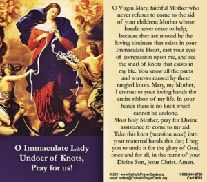 This is the prayer Mary Undoer of Knots
